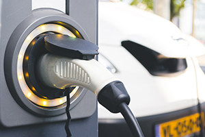 EV fleet vehicles on charge