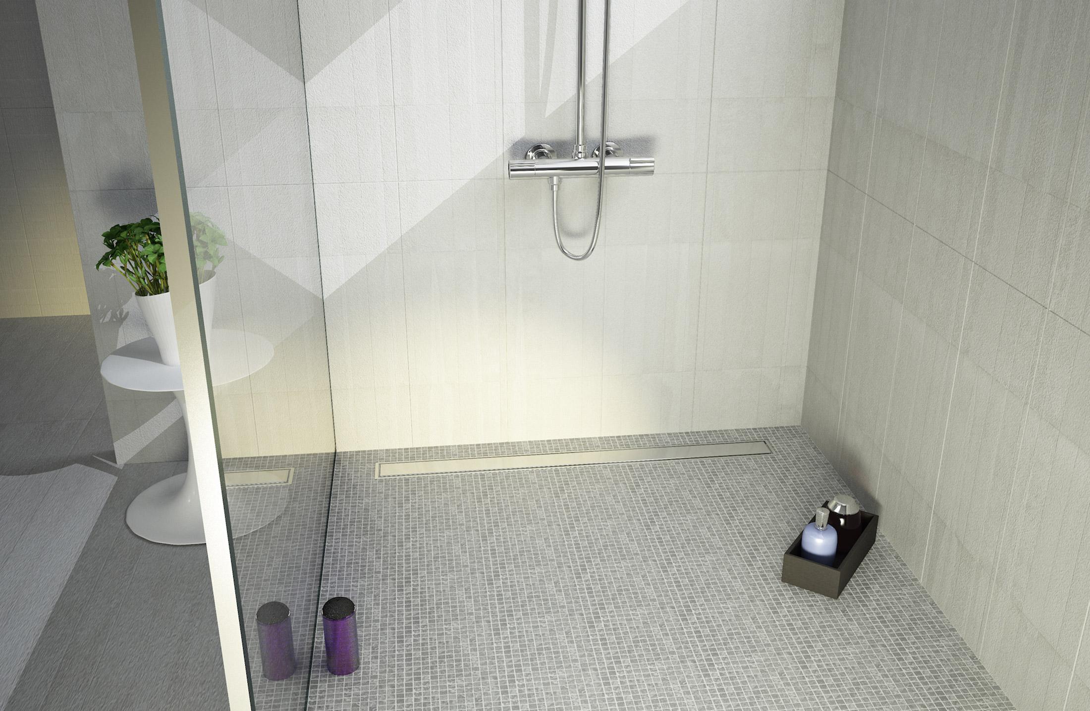ceramique internationale launches new linear drain wet. Black Bedroom Furniture Sets. Home Design Ideas