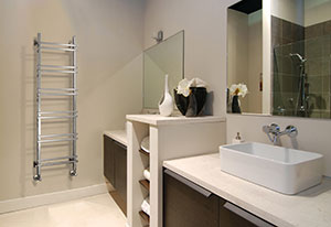 'Serene Statement' with Jazz Towel Warmer by Aestus