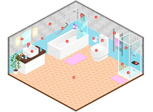 Plan of a typical bathroom - Experts Reveal How To Make Your Bathroom Last Longer