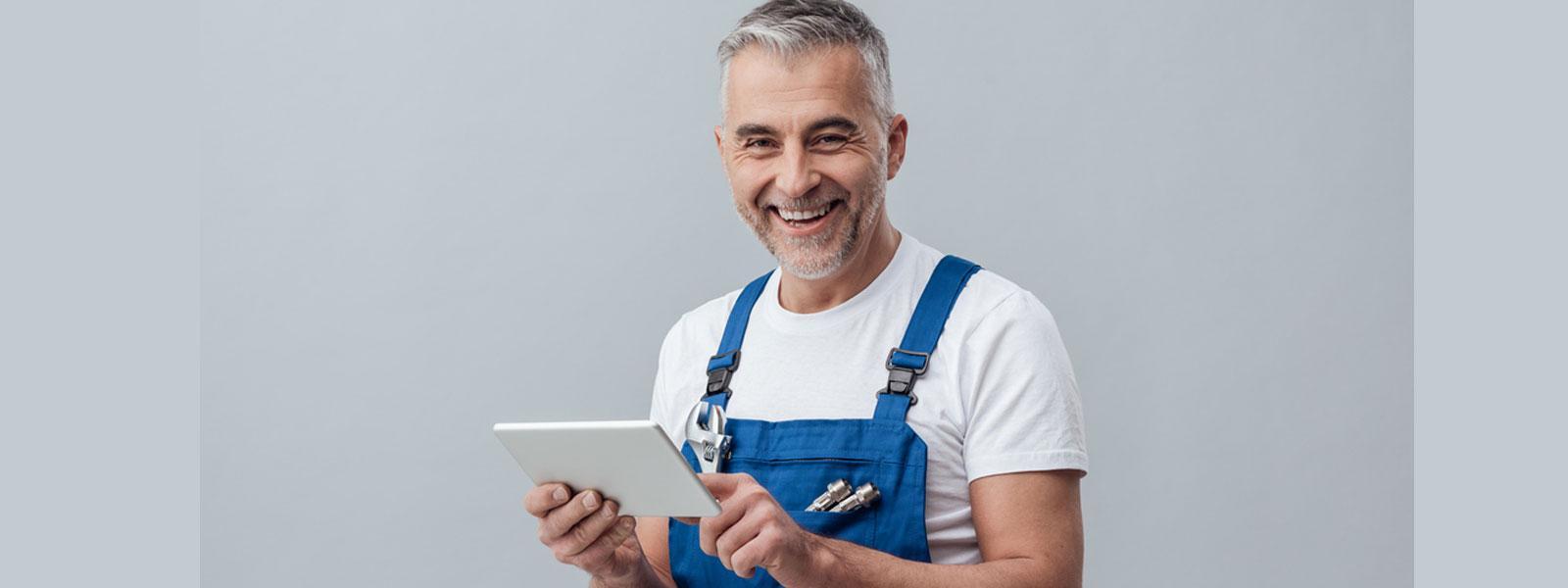 Plumber on an iPad