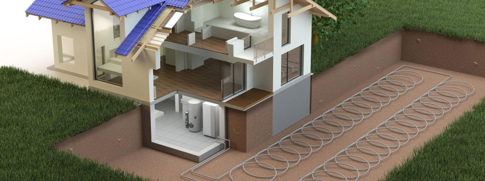 Underground Ground Source Heat Pumps