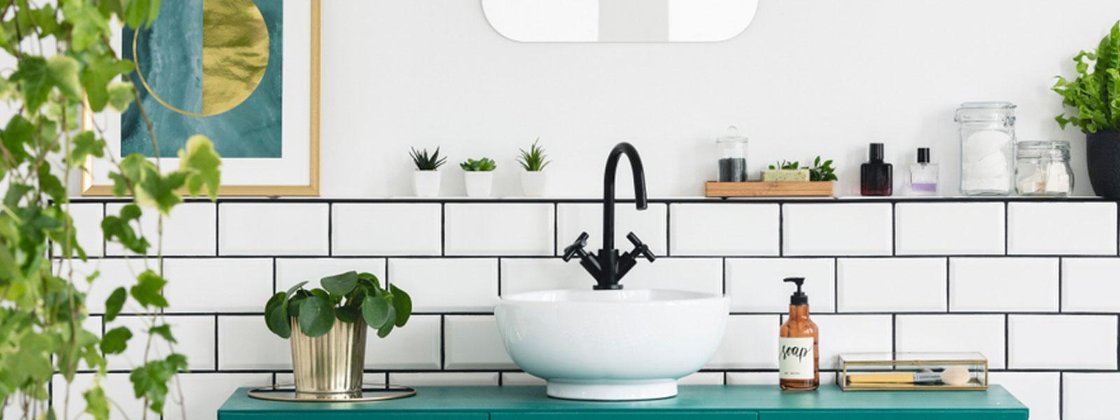 White Bathroom Market Sink