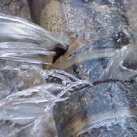 Burst plumbing pipe during winter
