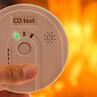 An alarm which tests for Carbon Monoxide