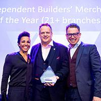Bradfords Building Supplies Winners with their award