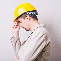 Construction worker with poor mental health