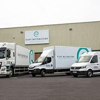 Bathroom retailer Easy Bathrooms and their fleet of delivery vehicles