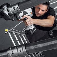 Press thick-walled steel pipes quickly and securely with Megapress