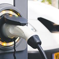 EV fleet vehicles on charge