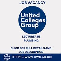JOB VACANCY: Lecturer in Plumbing