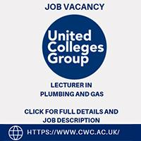 JOB VACANCY Lecturer in Plumbing & Gas