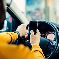Van Drivers Making Calls Behind The Wheel