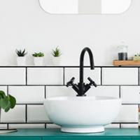 White Bathroom Market Sink