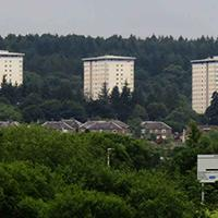 The new McDermott Group Tower blocks in Falkirk's Callendar Park, viewed from The Helix.jpg