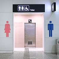 Public toilets with toilet charge