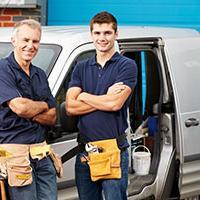 Two self-employed plumbers